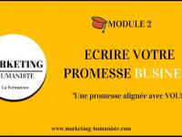 écrire une promesse business